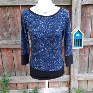 Michael Kors black and blue womens shirt
